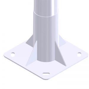 báculo de alumbrado público e iluminación exterior troncocónico GRBCN 10018