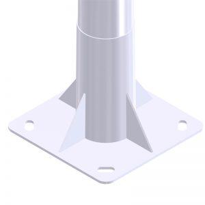 placa base báculo de alumbrado público e iluminación exterior Tronocónico GRBCN 7509