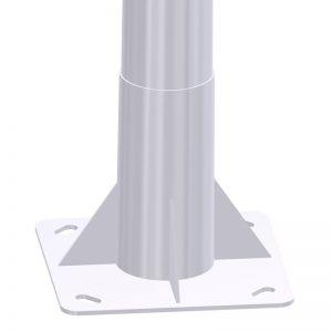 Placa Base báculo de alumbrado público e iluminación exterior troncocónico BCN