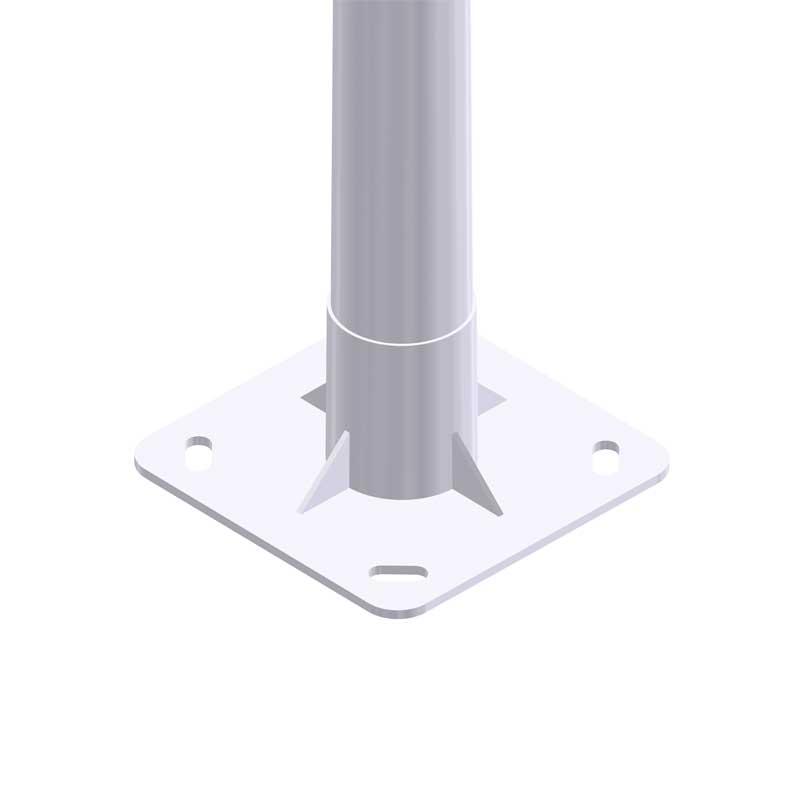 Soporte iluminación exterior Columna-troncocónica-Europeo