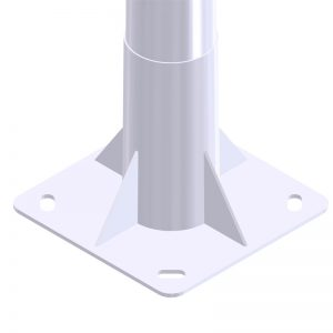 placa base báculo de alumbrado público e iluminación exterior Tronocónico GRBCN 7515