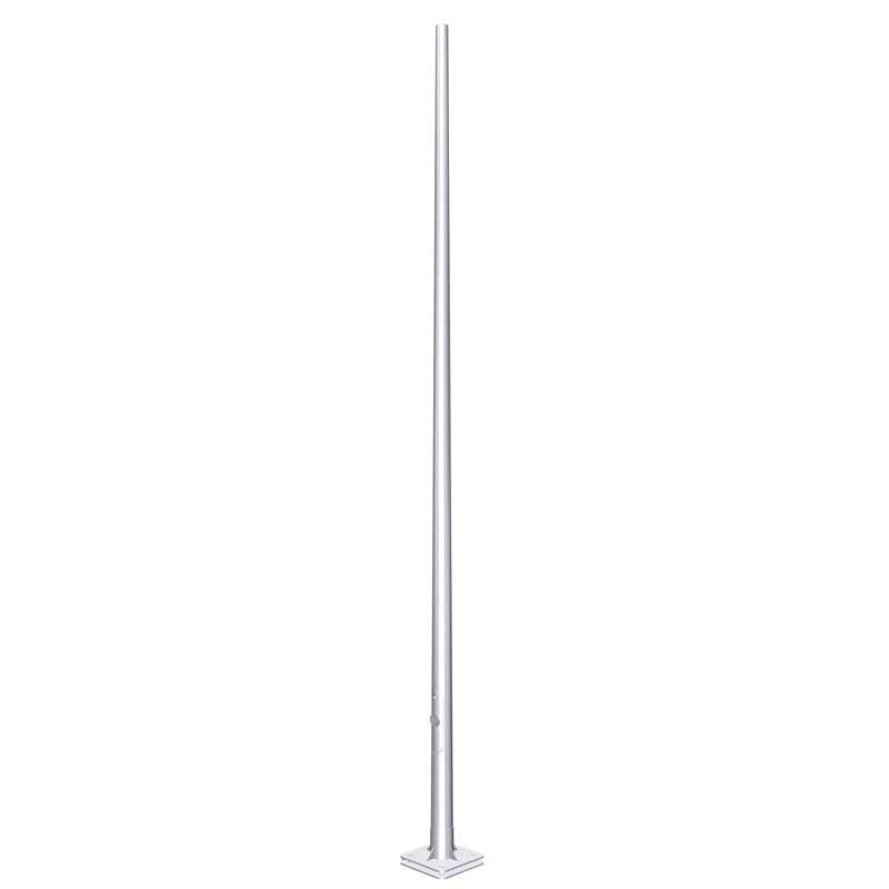 iluminación pública y alumbrado exterior con columna abatible por placa