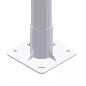 Soporte iluminación exterior Placa-Base-Columna-Troncocónica-APM-de-alumbrado-público