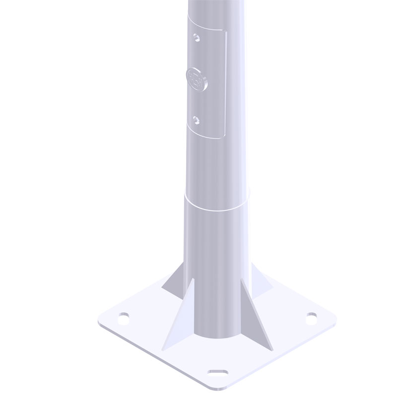 Iluminación exterior con Columna-Troncocónica-BCN-C20