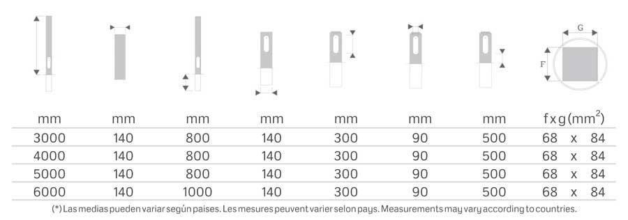 Iluminación Pública y alumbrado exterior con Columna-Empotrada-Cilíndrica-EU-EB-CL