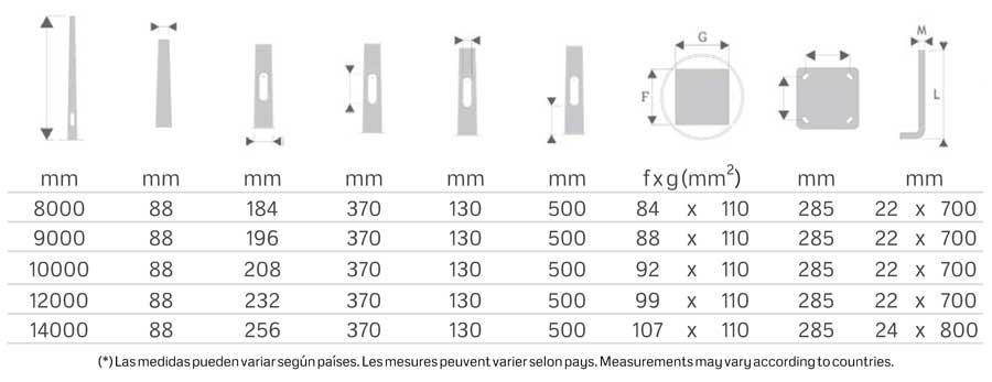 Soporte iluminación exterior Tabla-88-Columna-Troncocónica-APM