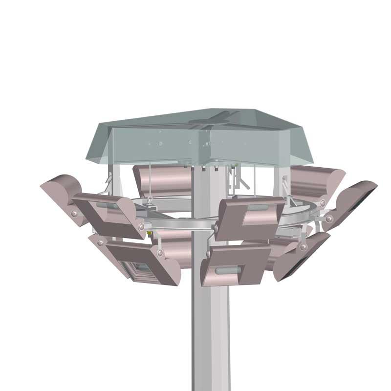 alumbrado-público-e-iluminación-exterior con Corona Móvil de Gran Altura