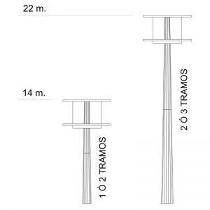 Columna Área para-alumbrado exterior e iluminación pública