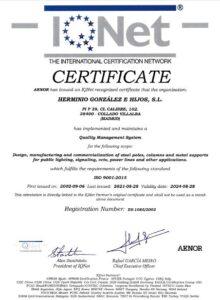 Certificado IQNetES Herminio González e Hijos